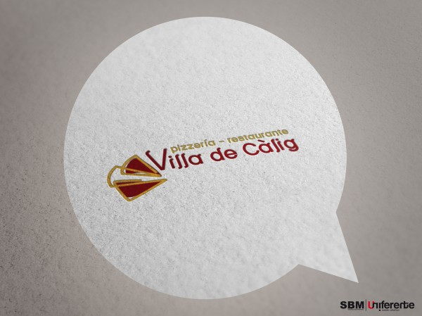 logotipo marca corporativa pizzeria calig seroffice sbm uniferente